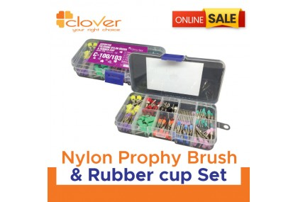 Nylon Prophy Brush & Rubber cup Set