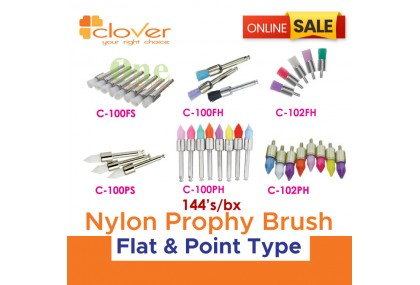 Nylon Prophy Brush - Flat & Point Type