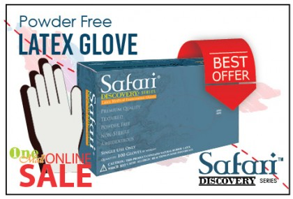 Latex P/Free Glove, Safari