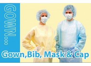 Gown, Bib,Mask & Cap