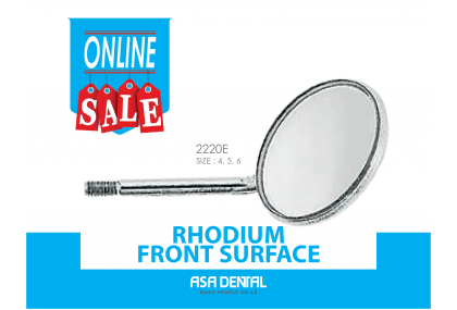 Rhodium Front Surface Mouth Mirror