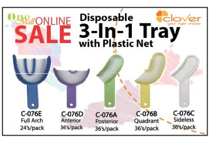 Disposable 3-in-1 Impression Trays
