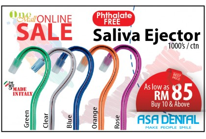 Saliva Ejector, Italy (Phthalate-free)