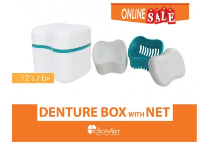 Denture Box with net, 12's