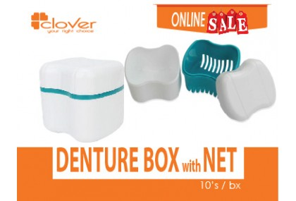 Denture Box with net, 10's